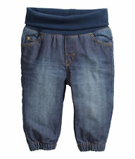 H&M baby boy girl unisex pull on baby pants light weight DENIM jeans 12-18M