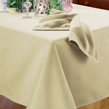 Benson Mills Prego Italian Waffle Weave Pattern Fabric Tablecloth Heavy Weight