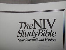 THE NIV STUDY BIBLE New International Version Zondervan Bible Publishers 1985