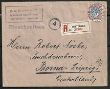 Netherlands 1921 NVPH 71B R-cover to Borna