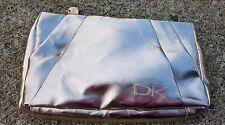 DK DONNA KAREN GOLD METALLIC MAKE UP BAG
