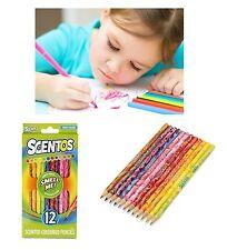 Confezione Da 12 Bambini Scentos Aroma Matite Colorate Fruit Profumo Sensory