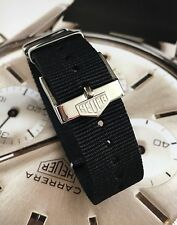 20mm Black NATO ® Strap For Heuer Tag Heuer With Buckle