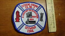 SEYMOUR CONNECTICUT FIRE DEPARTMENT CITIZENS ENGINE CO #2   PATCH BX 12 #21