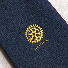 Rotary International Dartford Club asociación tie Vintage 1970's 1980's Navy