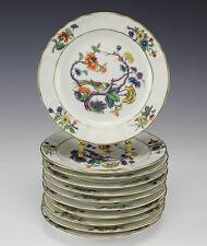 11pc Bernardaud & Co. Limoges Vieux Rouen Porcelain Bread Plates - chinoiserie