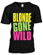 Blonde Gone Wild Crazy Drunk Girl Woman Women  Mens V-neck T-shirt
