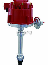 NEW HEI 65,000 VOLT RED CAP DISTRIBUTOR FOR SBC BBC V8 CHEVY  1955-1986
