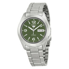 Seiko 5 Automatic Green Dial Stainless Stell Mens Watch SNKM75