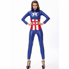Femme sexy captain america avengers hero fancy dress costume outfit