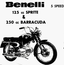 CD MANUALE OFFICINA+RICAMBI+MANUTEN. BENELLI MOTOBI 125-200 SPRITE 250 BARRACUDA