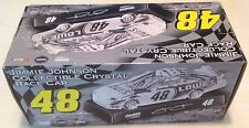 Jimmie Johnson #48 Lowe's Collectibe Crystal Race Car 1:24, 2 XMas Ornament Cars
