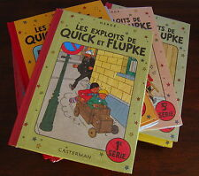 HERGE QUICK ET FLUPKE COLLECTION COMPLETE 12 ALBUMS CASTERMAN NEUFS