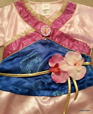 MULAN Halloween Costume Dress 5-6 Girls Princess Small Asian Disney Kids Chiness