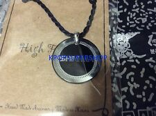 "SHINHWA CORDED NECKLACE LOGO NEW 18"" inch Black and Steel Charm KPOP K-POP"