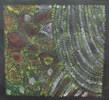 Falling Leaves - Australian Aboriginal Art by famous Artist GRACIE MORTON