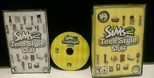 2007 THE SIMS 2 TEEN STYLE STUFF PC GAME CD-ROM COMPLETE W GUIDE INSTRUCTIONS