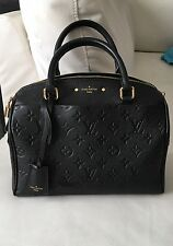 Louis Vuitton Speedy 25 Empreinte Monogram Leather Bandouliere Handbag In Noir