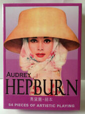 Hot Collectible Poker Playing cards Famous Movie Star - Audrey Hepburn+gift