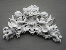 LARGE SHABBY CHIC CHERUBS/  FLOWERS  PLASTER FURNITURE// WALL PLAQUE MOULDINGS