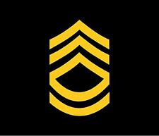 "E-7 Rank - US Army - Sergeant First Class - SFC - 3"" x 4.5"" Decal for Car/Window"