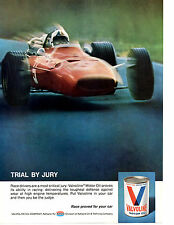 1969 FORMULA 1 RACING   ~  ORIGINAL VALVOLINE OIL AD