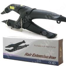 Hair Extensions Iron Fusion Keratin Heat Connector Wand Iron UK Plug Black