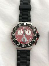 TAG HEUER FORMULA 1 CAC1112 STAINLESS STEEL DATE RED DIAL QUARTZ MENS WATCH