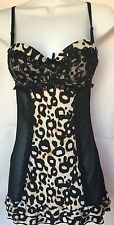 Jessica Simpson Sexy Chemise Baby Doll Sheer Leopard Size M