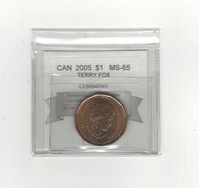 **2005 Terry Fox** Coin Mart Graded Canadian, Loon, One Dollar, **MS-65**