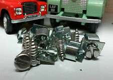 Land Rover Series Metal 78237 front dash panel spire nut & Stainless Screws x10