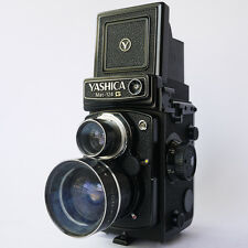 +VG Yashica Mat 124G TLR Camera w/ Wide Angle Kit Lens & Case - FILM TESTED
