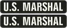 u.s.maeshal embroidery patch 2x11hook on back  white letters