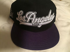 New Era Los Angeles Kings NHL 9Fifty Snapback Script BK Vintage Caps hats