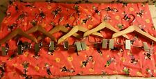 "NEW(6)SIX 6"" Doll-Sz-Dog? Wood Clothes Hangers-w/Clip-Made to Fit American Girl!"