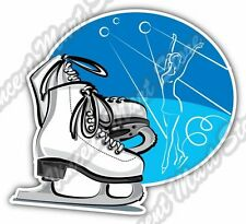 Figure Skating Ice Dancing Skates Car Bumper Window Vinyl Sticker Decal 4.6""