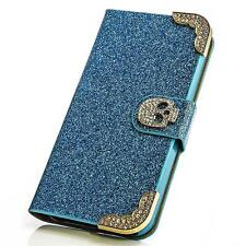 Glitzer Book Style Handy Tasche Samsung i8190 Galaxy S3 Mini Flip Case Cover Bag