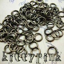 400 5mm Antique Gold Jumprings Open Jump Rings