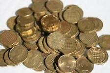 100 BRASS THREE PENCES 3D BULK LOT OLD ENGLISH COINS