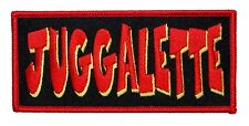 """Juggalette"" Name Tag ICP Insane Clown Posse Girl Gear Iron On Applique Patch"