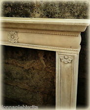 Camino in Pietra Leccese Stile Impero Old Stone Fireplace CLASSIC HOME DESIGN