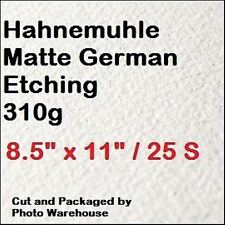 """Hahnemuhle German Etching Paper 8.5 x 11"""" - 25 Sheets Private Label Packaging"""