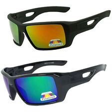 2 Pack Mens EYEPATCH 2 Large Square POLARIZED Lens Wrap Around SUNGLASSES EP03
