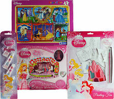 Disney Princess 4 Piece Toy Gift Set - Make A Scene, Jigsaw Puzzle, Painting