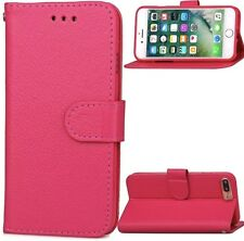 "Pink Leather Flip Shock Scratch Proof Stand Cover Case iPhone 7 Plus 5.5"" USA"