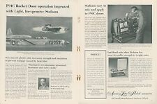 1954 American Latex Products Ad Air Force F94C Rocket Jet Fighter Advertisement