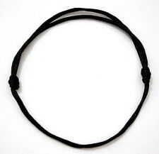 1 BLACK STRING BANGLE - - - - -Friendship Bracelet Adjustable Urban Fashion Wrap