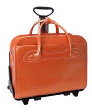 NEW McKlein USA Willowbrook 94980 Orange Detachable-Wheeled Ladies' Briefcase