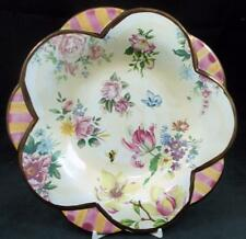 """Mackenzie-Childs CHELSEA LUSTER Salad Plate """"Large Scallops"""" GREAT CONDITION"""
