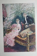 1884 Estampe originale H. Gervex Femme et Homme Bourgeoisie / pour Uzanne Japon